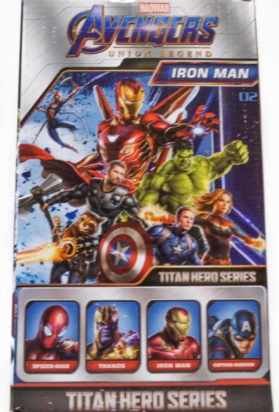 Figurina erou tip Avengers Marvel, Iron Man, culoare rosu, articulatii flexibile, iluminare led, 30 cm 2