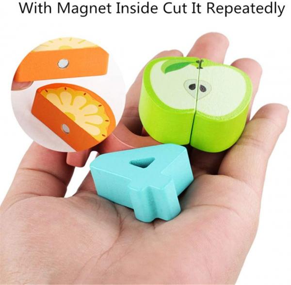 Puzzle educativ lemn sortare-operatii matematice si fructe 6