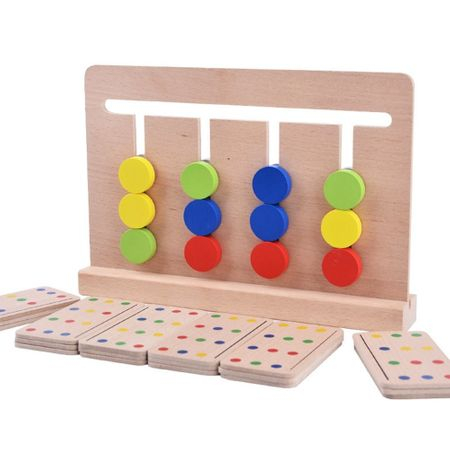 Joc Montessori Din Lemn Labirint Asociază Culorile 7