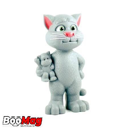 Jucărie Talking Tom interactivă, motanul vorbitor cu povești, repetă tot ce aude, 20 cm 0