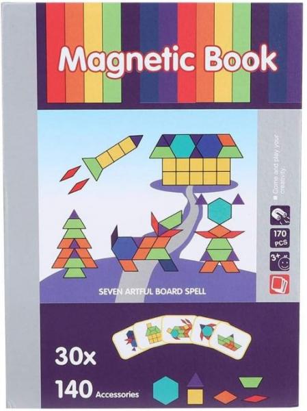 Carte magnetică educativă STEM, Tangram 1