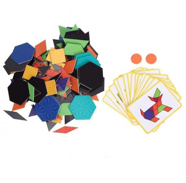 Carte magnetică educativă STEM, Tangram 2