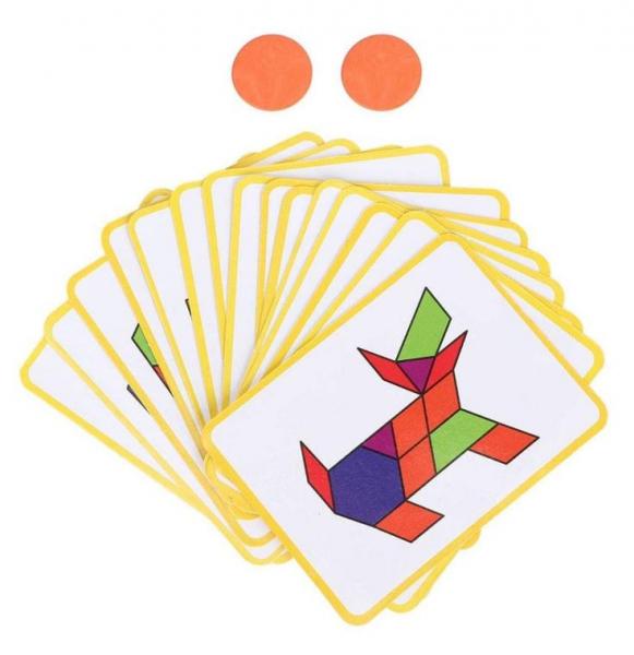 Carte magnetică educativă STEM, Tangram 3