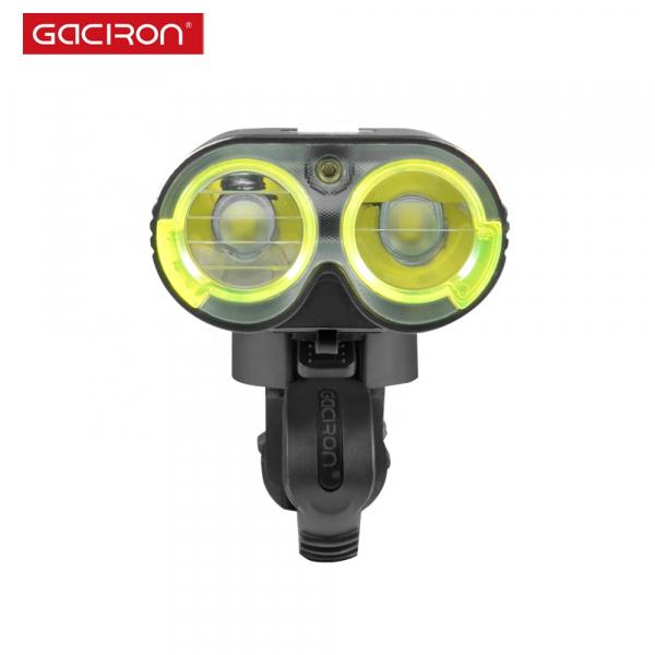 Far LED Gaciron V9D-1600, 1600 Lumeni, Baterie Reincarcabila 5000 mah, Rezistenta la Apa IPX6, Negru [4]