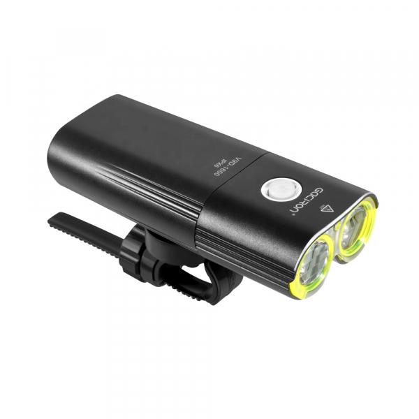 Far LED Gaciron V9D-1600, 1600 Lumeni, Baterie Reincarcabila 5000 mah, Rezistenta la Apa IPX6, Negru [0]