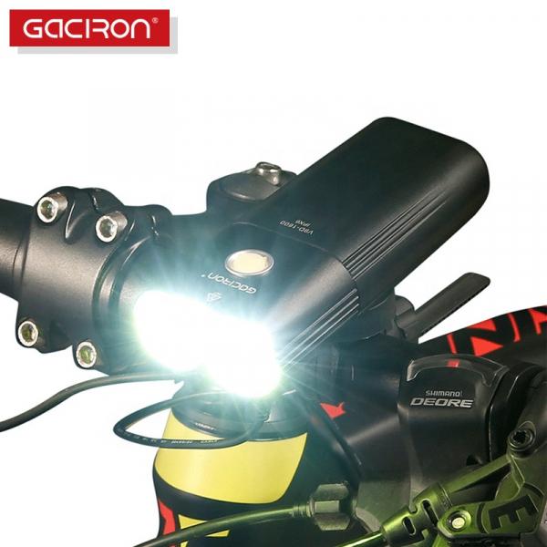 Far LED Gaciron V9D-1600, 1600 Lumeni, Baterie Reincarcabila 5000 mah, Rezistenta la Apa IPX6, Negru [1]