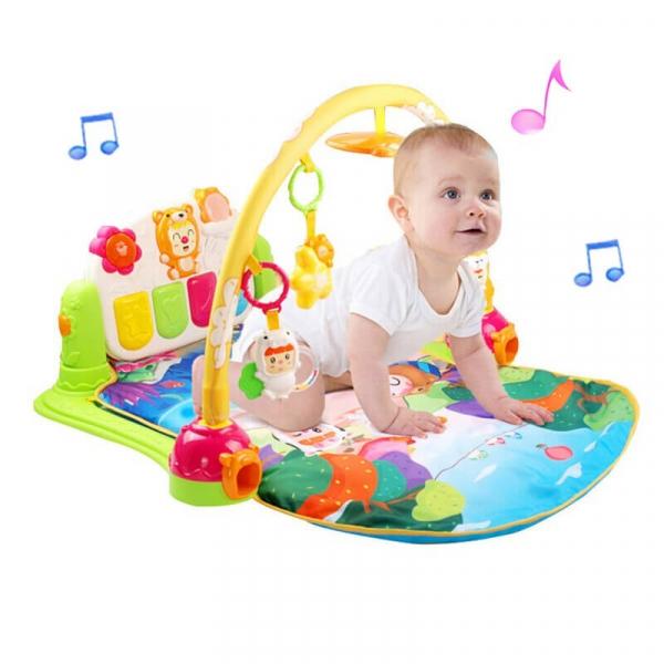 Păturică inteligentă pentru bebeluși cu activități Piano Fitness, 0+ ani 0