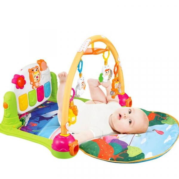 Păturică inteligentă pentru bebeluși cu activități Piano Fitness, 0+ ani 1