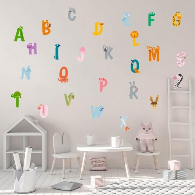 Sticker decorativ pentru camera copilului - ALFABETUL 1