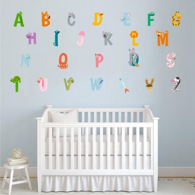 Sticker decorativ pentru camera copilului - ALFABETUL 0