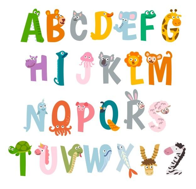 Sticker decorativ pentru camera copilului - ALFABETUL 2