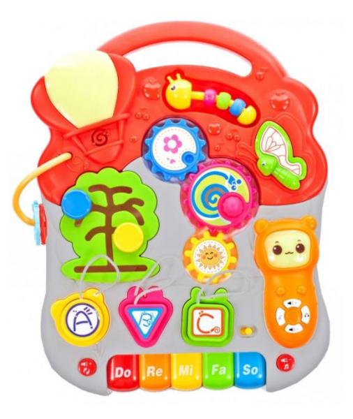 "Antemergator Interactiv 5 in 1, cu masuta interactiva detasabila, Lumini si Sunete, Multiple Moduri Senzoriale de joaca ""Musical Stroller"", Multicolor 6"