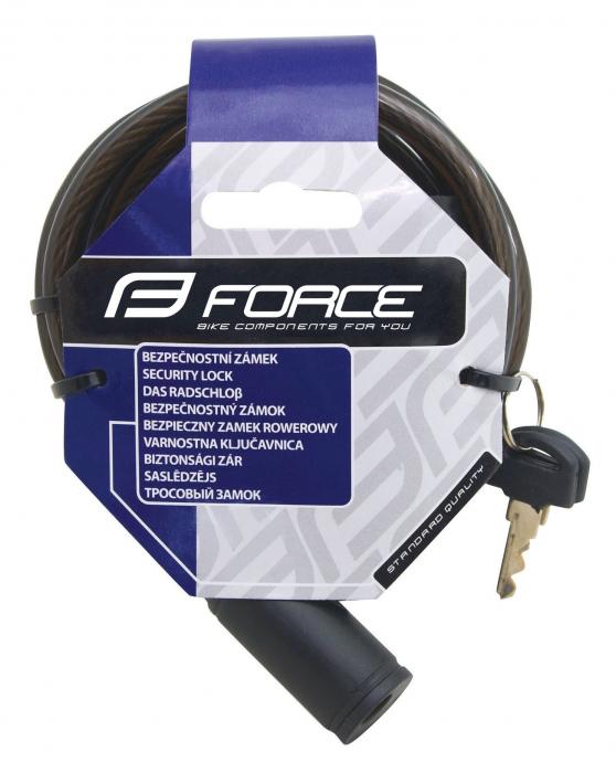 Antifurt bicicleta Force Eco 1200/8 mm negru [1]