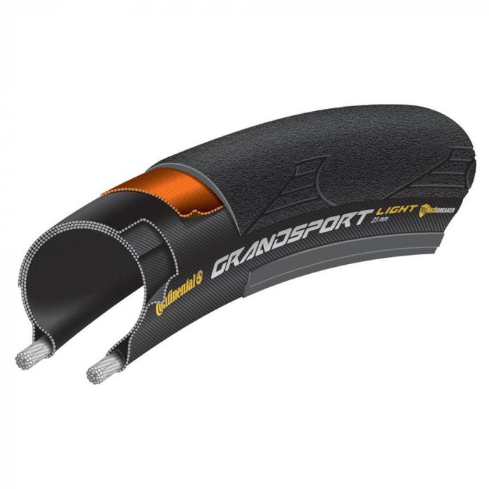 Cauciuc bicicleta 700 X 23C, anvelopa pliabila  Continental Grand Sport Light 23-622 negru SL [1]