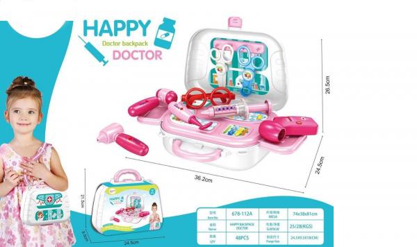 Set doctor pentru copii sub foma de rucsac, Happy 1