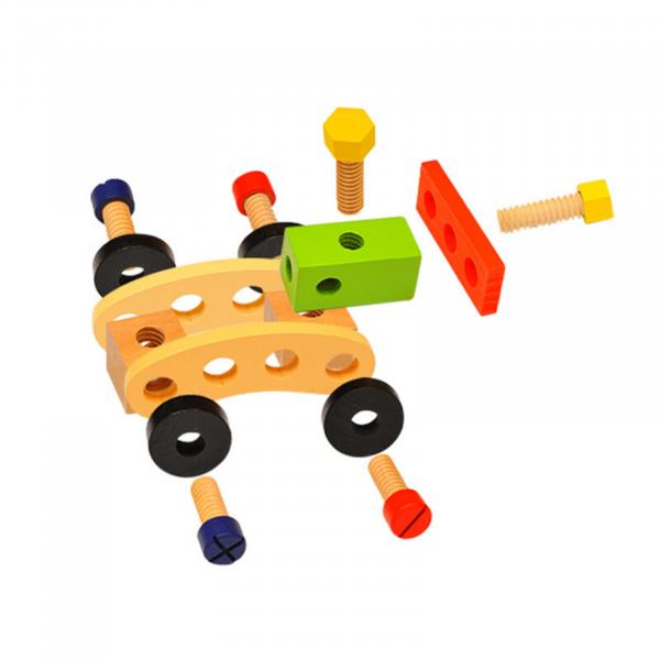 Banc de lucru - set trusa de scule din lemn cu accesorii pentru copii 3