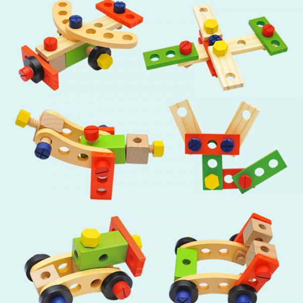 Banc de lucru - set trusa de scule din lemn cu accesorii pentru copii 4