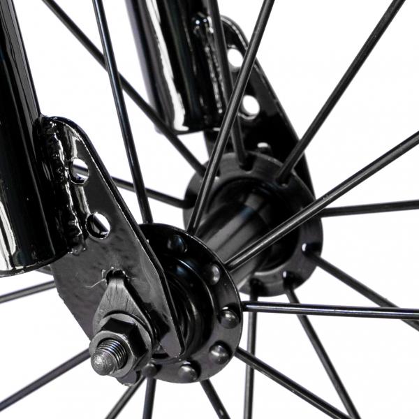 "Bicicleta baieti RICH BABY R14WTA, roata 14"", roti ajutatoare cu LED, 3-5 ani, culoare negru/albastru 8"