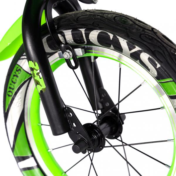 "Bicicleta baieti  RICH BABY R14WTA, roata 14"", roti ajutatoare cu LED, 3-5 ani, culoare negru/verde 6"