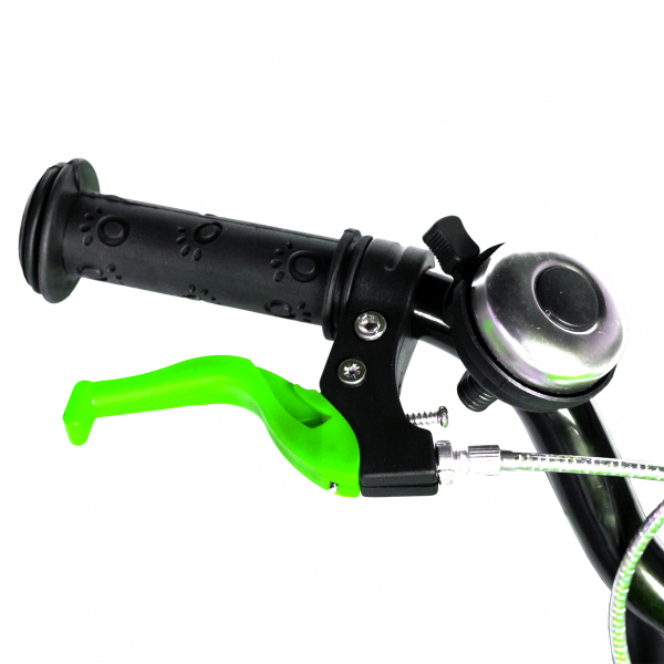 "Bicicleta baieti  RICH BABY R14WTA, roata 14"", roti ajutatoare cu LED, 3-5 ani, culoare negru/verde 8"