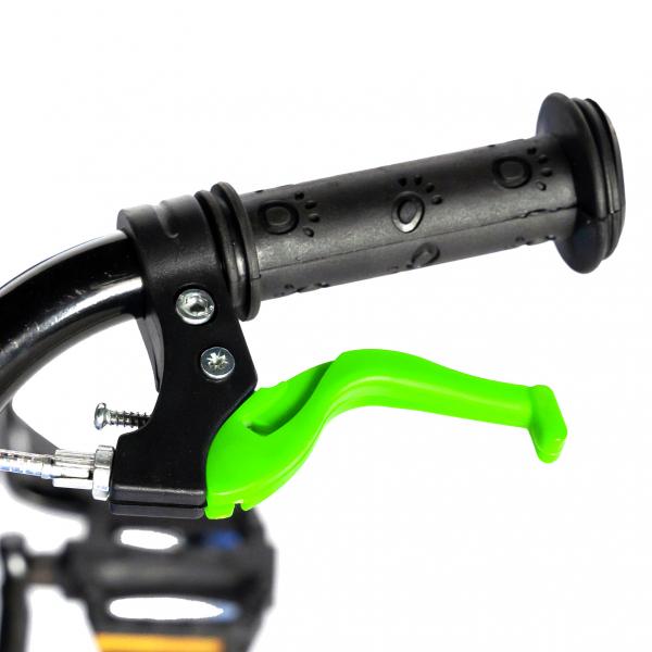 "Bicicleta baieti  RICH BABY R14WTA, roata 14"", roti ajutatoare cu LED, 3-5 ani, culoare negru/verde 9"