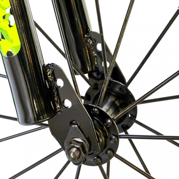 "Bicicleta baieti  RICH BABY R14WTA, roata 14"", roti ajutatoare cu LED, 3-5 ani, culoare negru/verde 7"
