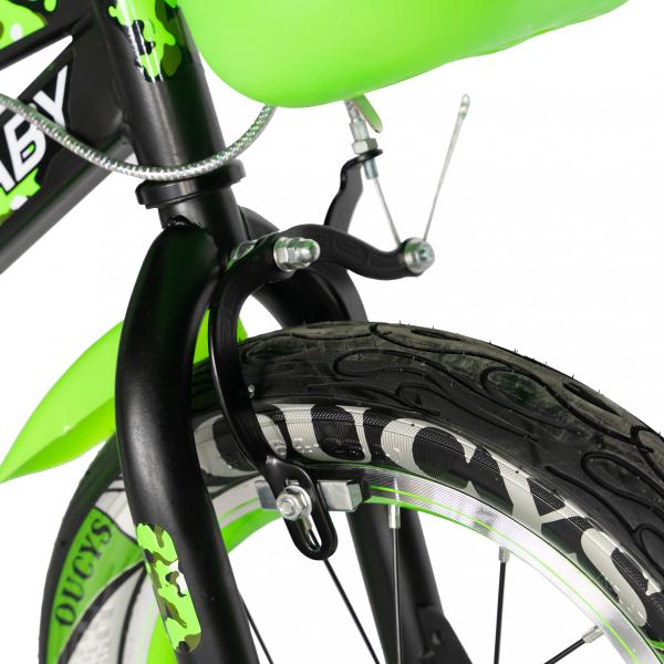 "Bicicleta baieti  RICH BABY R14WTA, roata 14"", roti ajutatoare cu LED, 3-5 ani, culoare negru/verde 5"