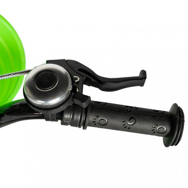 "Bicicleta baieti RICH BABY R14WTB, roata 14"", roti ajutatoare, 3-5 ani, culoare negru/verde 6"