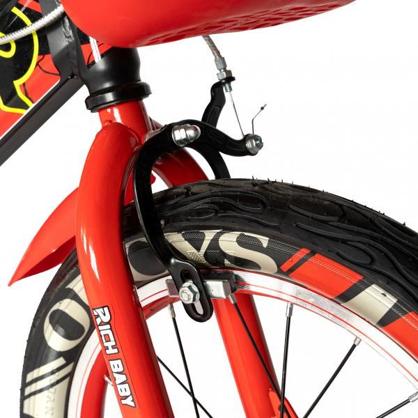 "Bicicleta baieti RICH BABY R16WTB, roata 16"", roti ajutatoare, 4-6 ani, culoare negru/rosu 5"