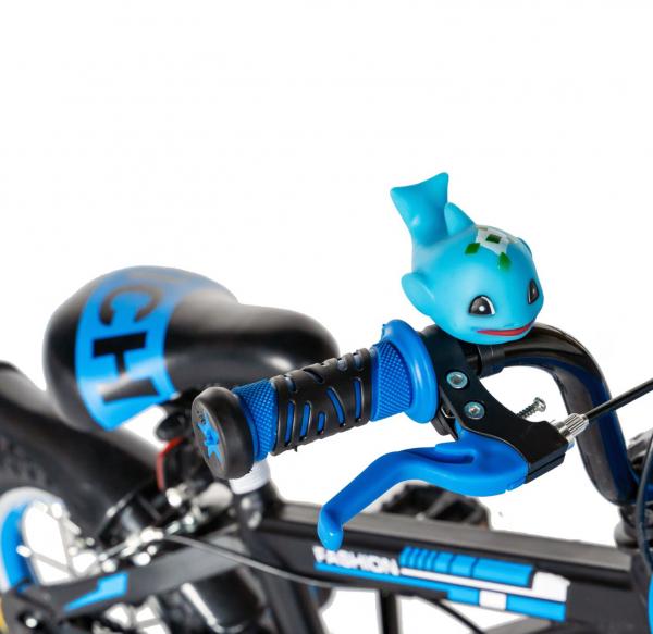 "Bicicleta baieti Rich Baby T1202C, roata 12"", C-Brake, roti ajutatoare, 2-4 ani, negru/albastru [9]"