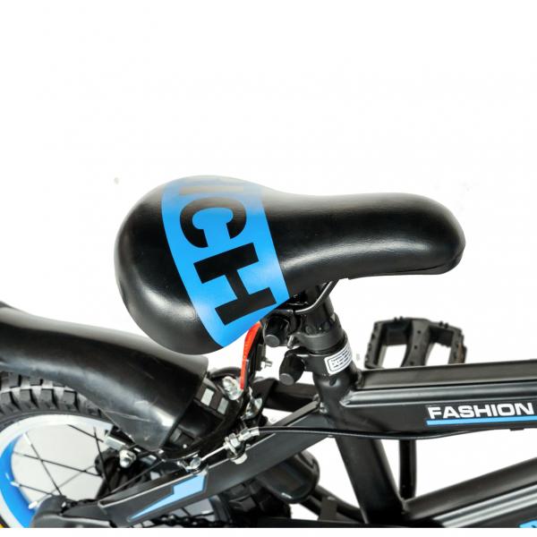 "Bicicleta baieti Rich Baby T1202C, roata 12"", C-Brake, roti ajutatoare, 2-4 ani, negru/albastru [1]"
