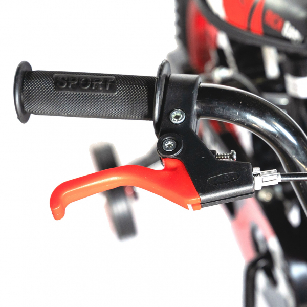 "Bicicleta baieti Rich Baby T1204C, roata 12"", C-Brake,  roti ajutatoare, 2-4 ani, negru/rosu 7"