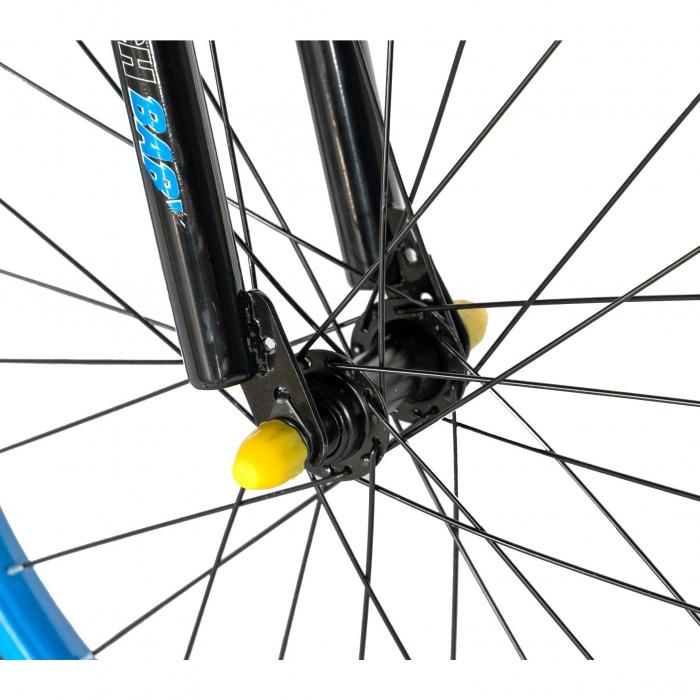 Bicicleta Baieti 7-10 Ani, Roti 20 Inch, Frane C-Brake, Rich Baby CST20/04C, Cadru Negru cu Design Albastru [6]