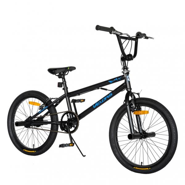 """Bicicleta BMX 20"""" VELORS V2016A, culoare negru/albastru [1]"""