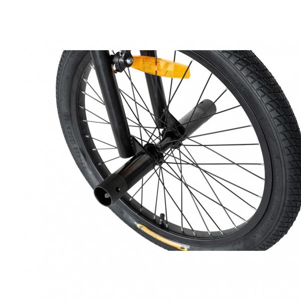 """Bicicleta BMX 20"""" VELORS V2016A, culoare negru/portocaliu 5"""