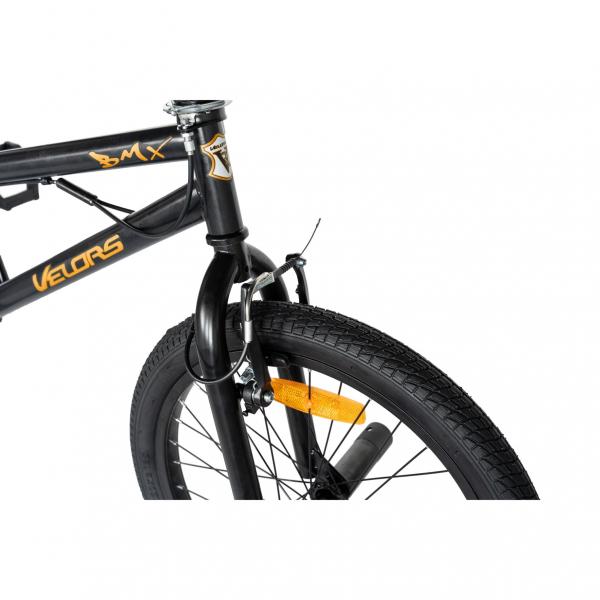 """Bicicleta BMX 20"""" VELORS V2016A, culoare negru/portocaliu 8"""