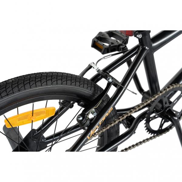 """Bicicleta BMX 20"""" VELORS V2016A, culoare negru/portocaliu 3"""