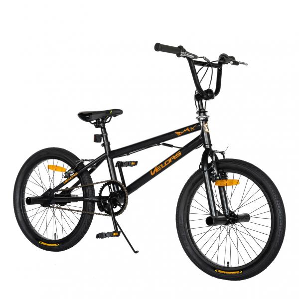 """Bicicleta BMX 20"""" VELORS V2016A, culoare negru/portocaliu 1"""