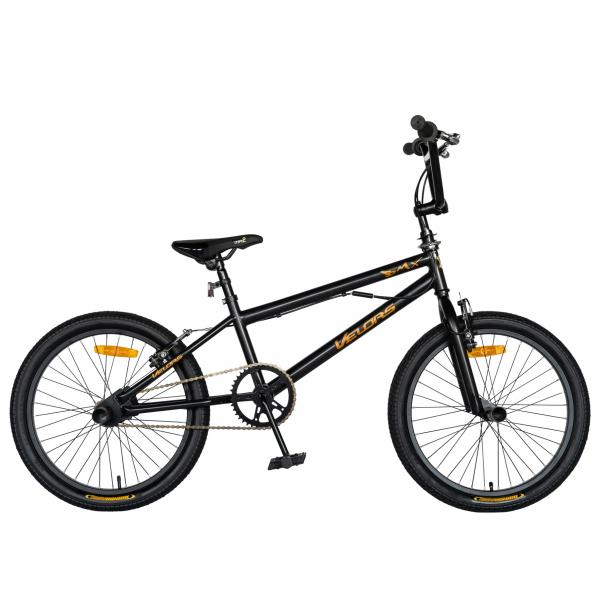 """Bicicleta BMX 20"""" VELORS V2016A, culoare negru/portocaliu 0"""