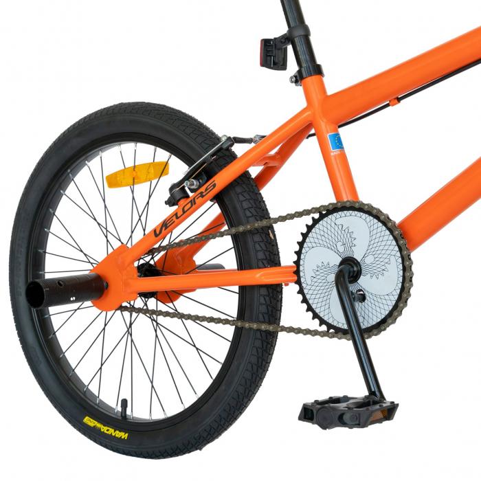 Bicicleta BMX, Roti 20 Inch, Frane V-Brake, Velors Rocker CSV20/16A, Cadru Portocaliu cu Design Negru [2]