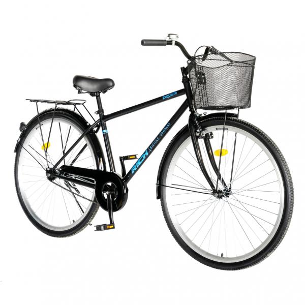"""Bicicleta CITY 28"""" Rich Exquisite R2891A, culoare negru/albastru 1"""
