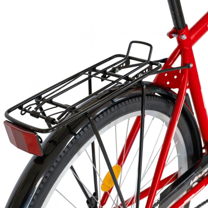 Bicicleta City Roti 28 Inch, Frane Mecanice V-Brake, Velors Ukrayna CSV28/93A, Cadru Rosu cu Design Alb [8]
