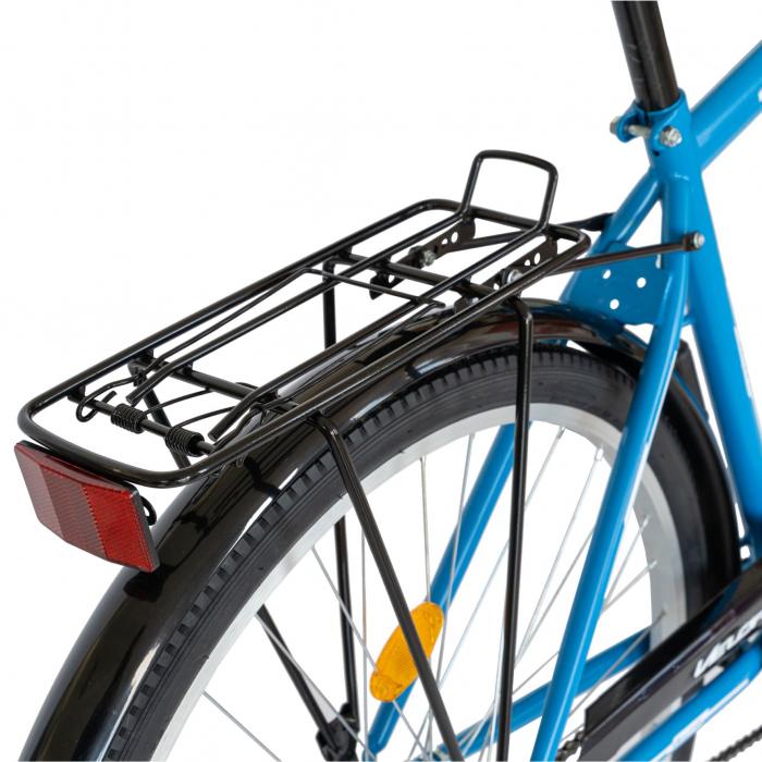 Bicicleta City Roti 28 Inch, Frane Mecanice V-Brake, Velors Ukrayna CSV28/93A, Cadru Albastru cu Design Alb [8]