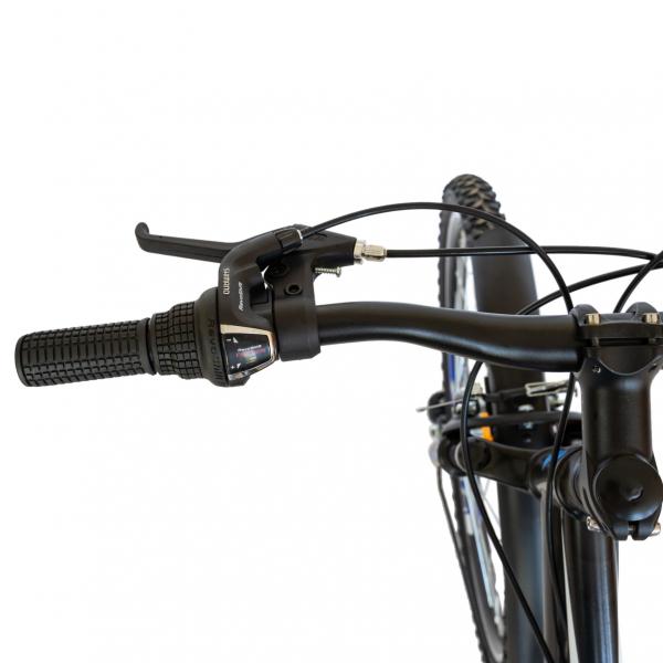 Bicicleta CITY Velors V2633B, roata 26 inch, echipare Shimano, 18 viteze, culoare negru/albastru 8