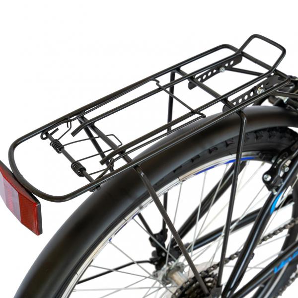 Bicicleta CITY Velors V2633B, roata 26 inch, echipare Shimano, 18 viteze, culoare negru/albastru 7