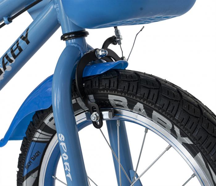 Bicicleta Copii 2-4 ani, Roti 12 Inch, C-Brake, Roti Ajutatoare, Rich Baby CSR12/03A, Cadru Albastru cu Design Negru [8]