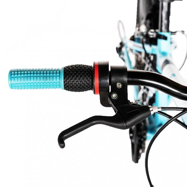 "Bicicleta copii 20"" LIFE A2030L, frana V-Brake,  18 viteze, varsta 7-10 ani, culoare albastru/alb 9"