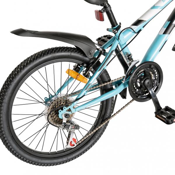 "Bicicleta copii 20"" LIFE A2030L, frana V-Brake,  18 viteze, varsta 7-10 ani, culoare albastru/alb 3"