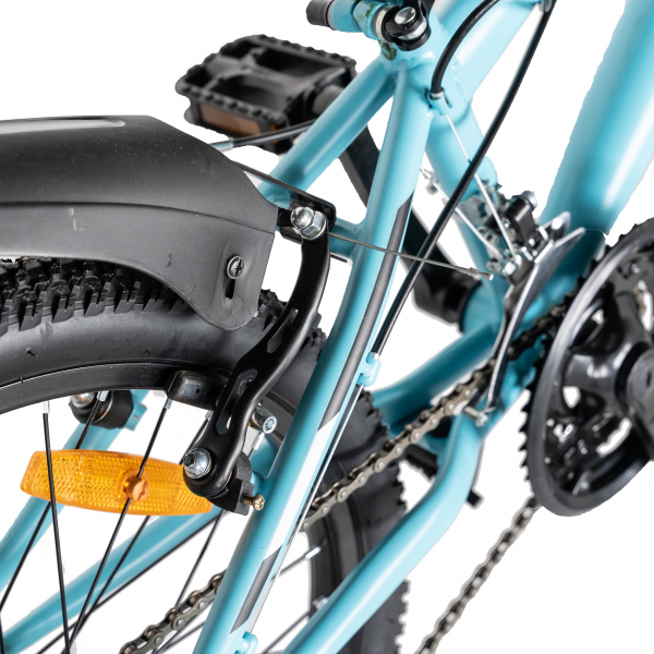 "Bicicleta copii 20"" LIFE A2030L, frana V-Brake,  18 viteze, varsta 7-10 ani, culoare albastru/alb 4"