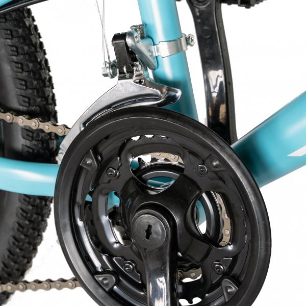 "Bicicleta copii 20"" LIFE A2030L, frana V-Brake,  18 viteze, varsta 7-10 ani, culoare albastru/alb 6"